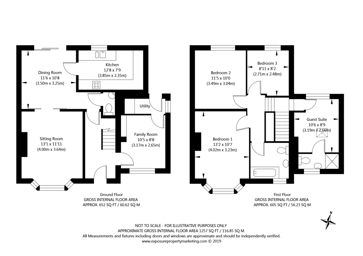 4 bed house for sale in Westfield Place, York - Property Floorplan