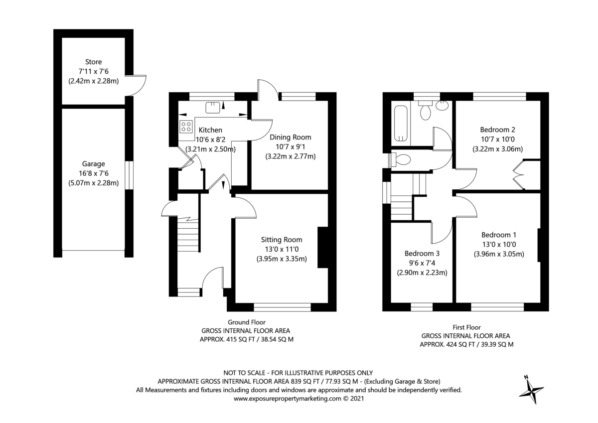 3 bed house for sale in Heatherdene, Tadcaster - Property Floorplan