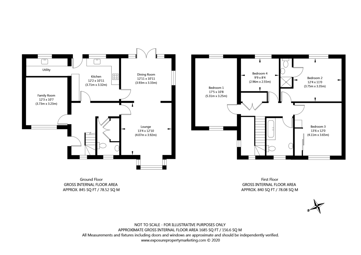 4 bed house for sale in The Orchard, Tholthorpe, York - Property Floorplan