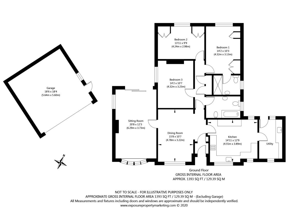 3 bed bungalow for sale in York Road, Acomb, York - Property Floorplan