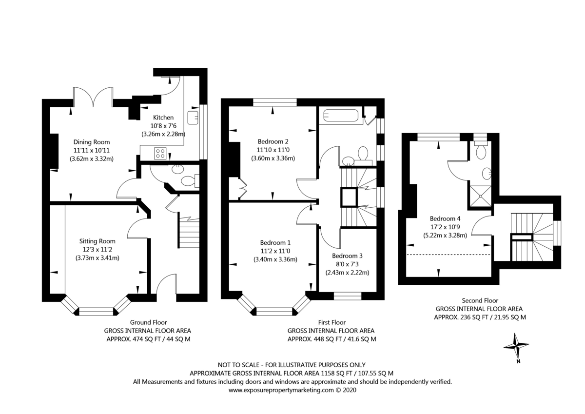 4 bed house for sale - Property Floorplan