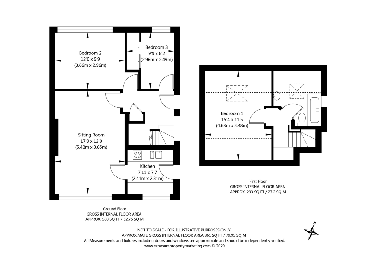 3 bed bungalow for sale in Wordsworth Crescent, York - Property Floorplan