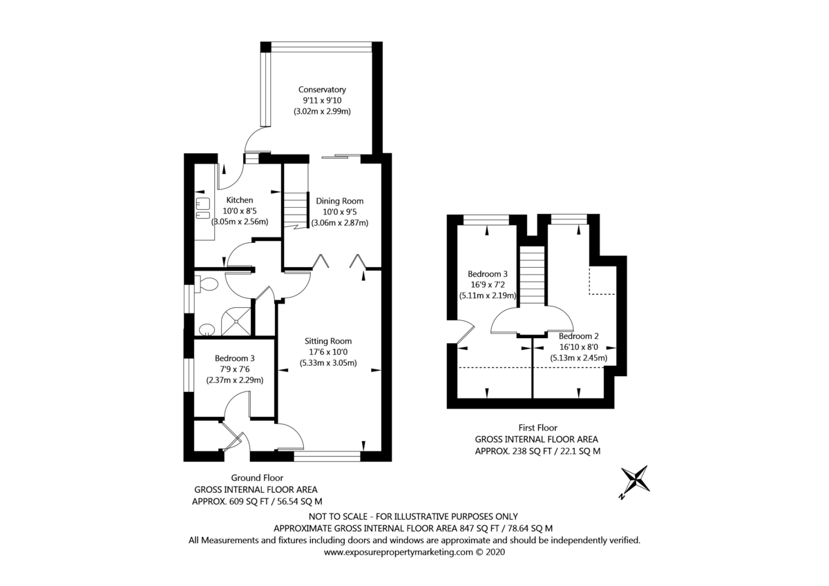 3 bed bungalow for sale in Lowick, York - Property Floorplan