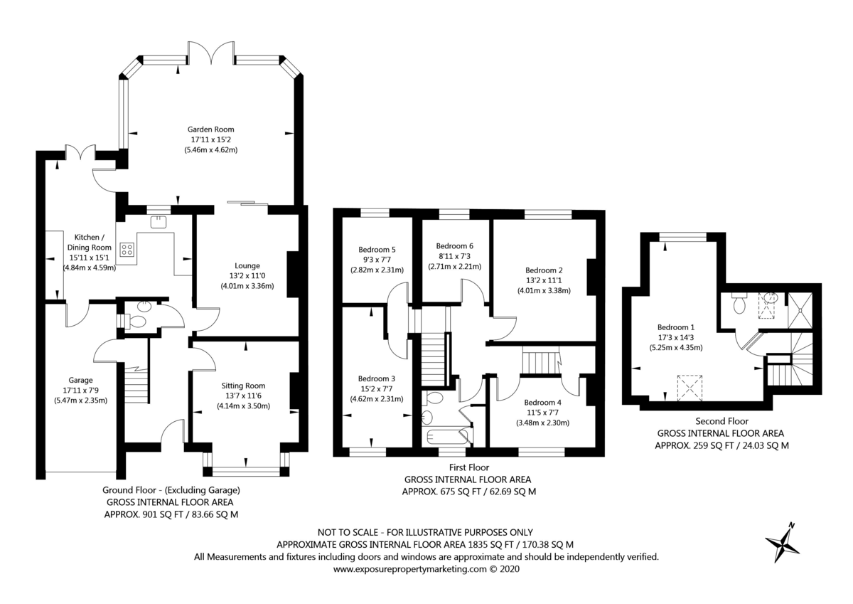 6 bed house for sale - Property Floorplan
