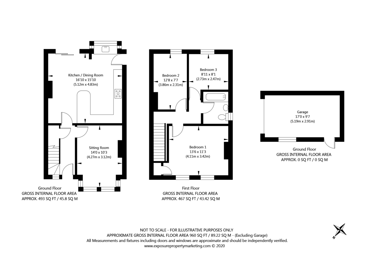 3 bed house for sale in Howe Hill Road, York - Property Floorplan