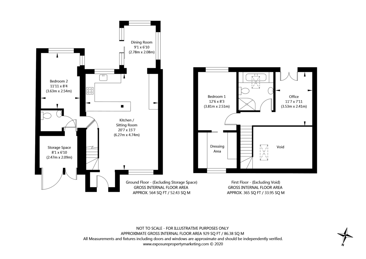 2 bed house for sale in Kelcbar Way, Tadcaster - Property Floorplan