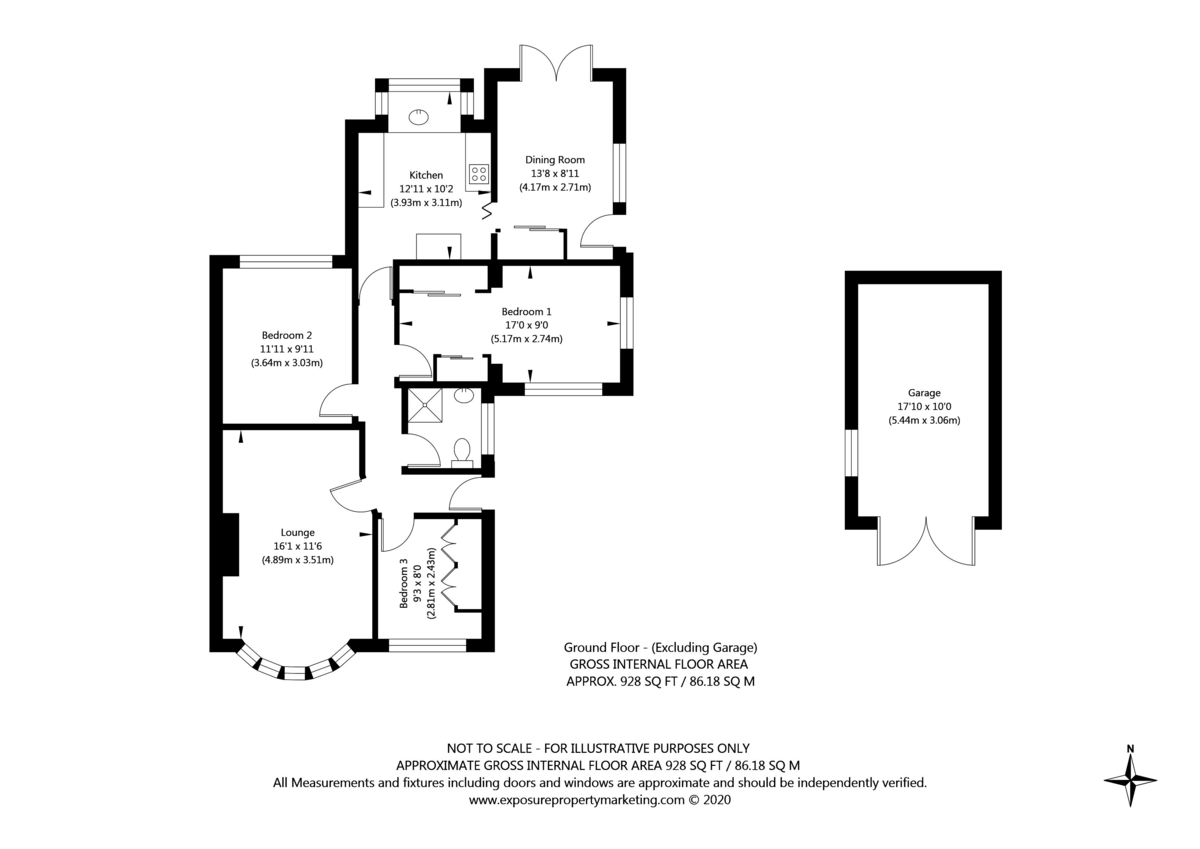 3 bed bungalow for sale in Hawthorn Spinney, York - Property Floorplan