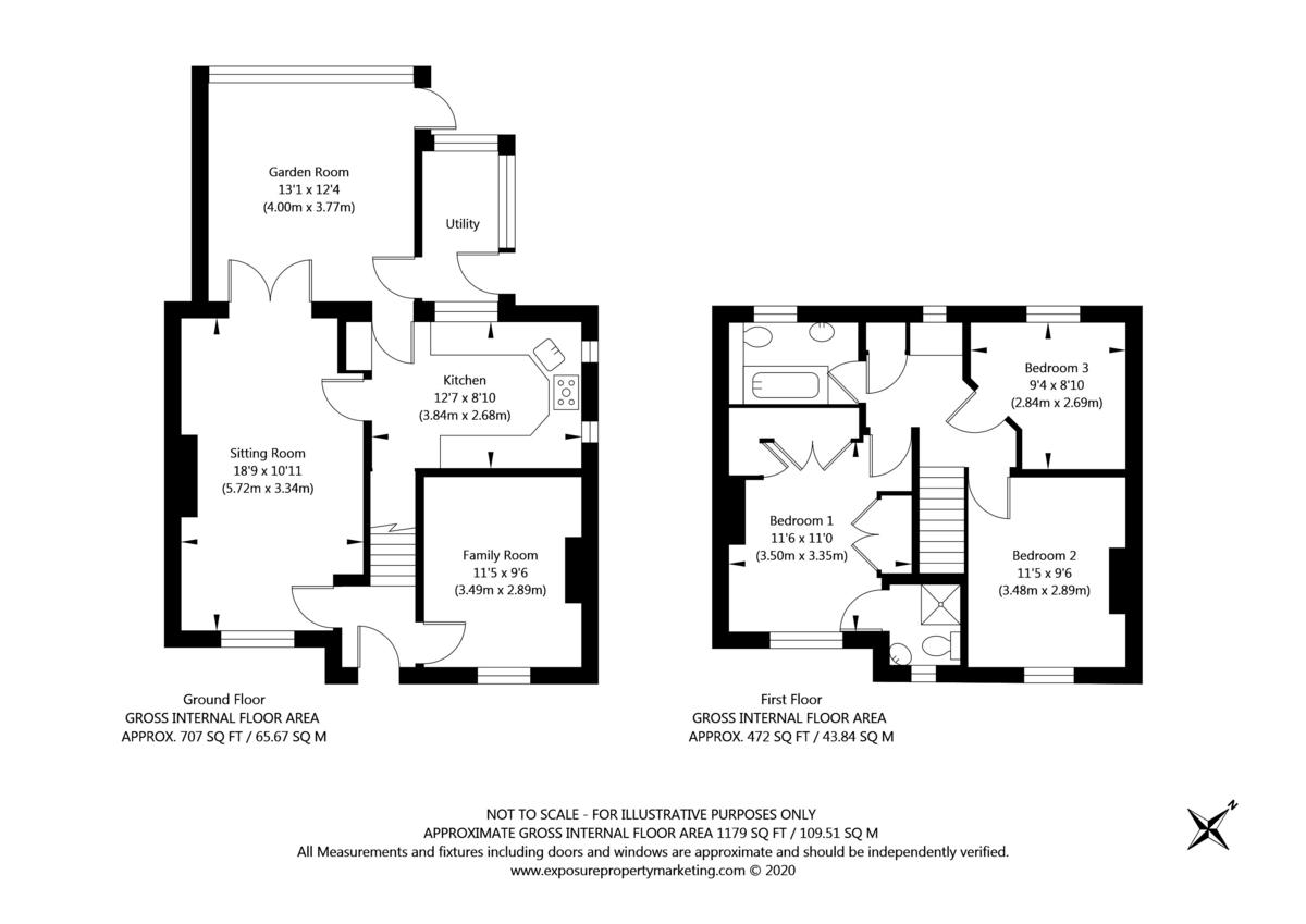 3 bed house for sale in Leeds Road, Tadcaster - Property Floorplan