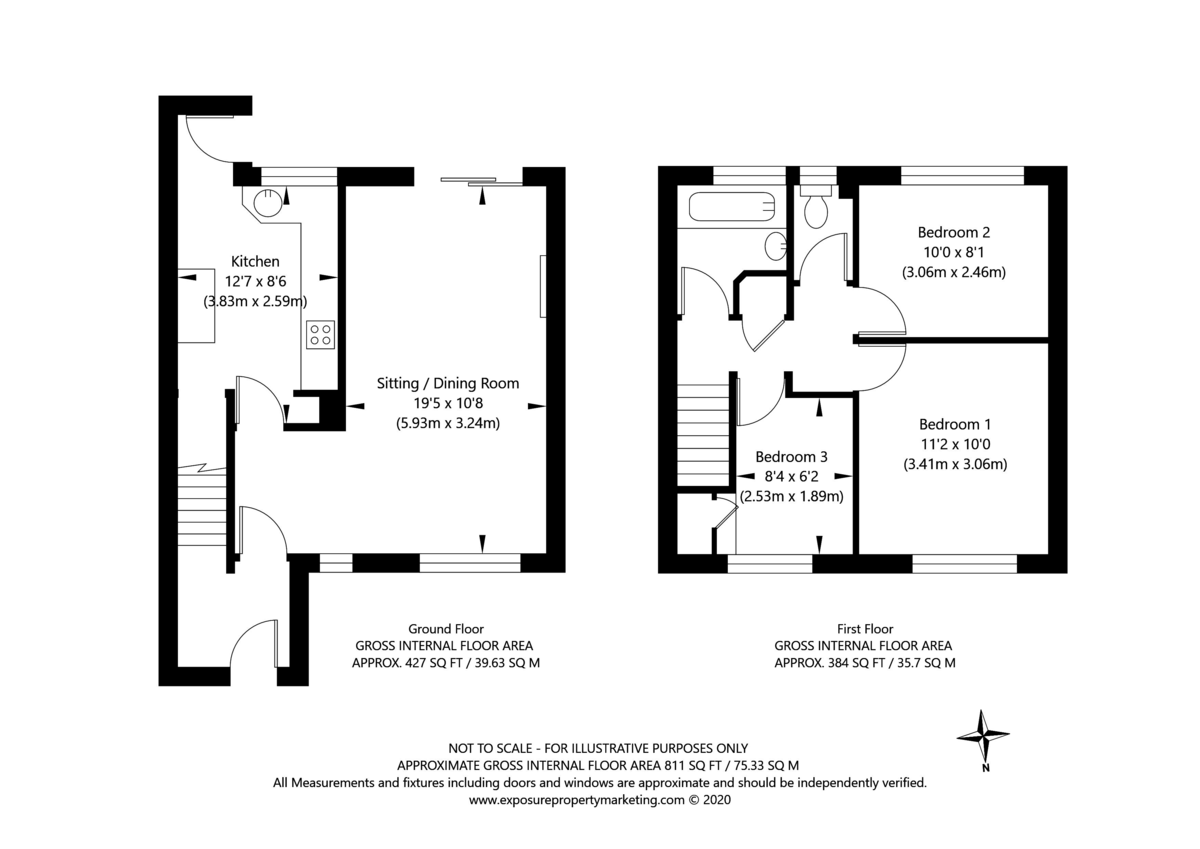 3 bed house for sale in Foxwood Lane, York - Property Floorplan