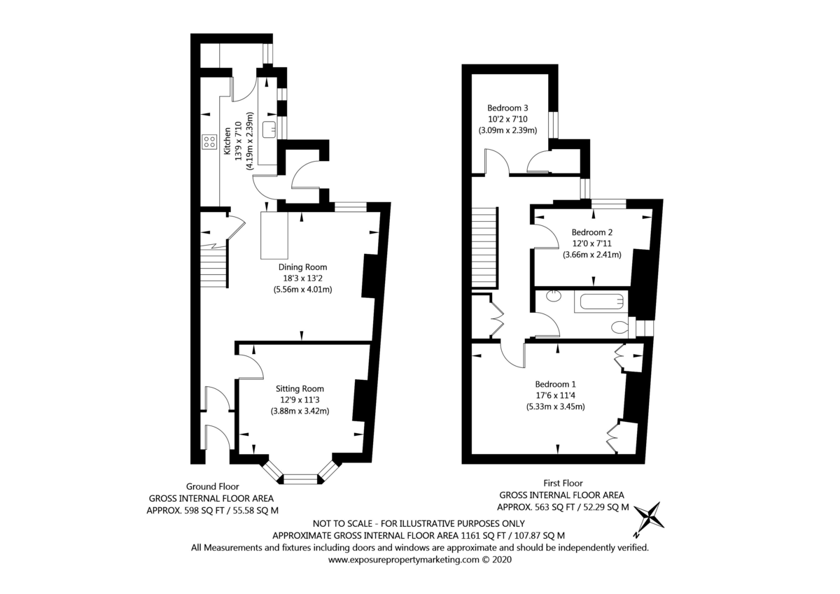 3 bed house for sale in Wilton Rise, York - Property Floorplan