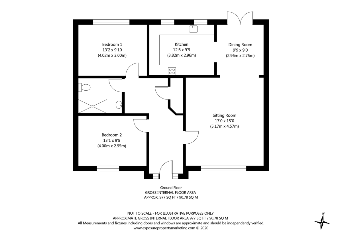 2 bed bungalow for sale in Church Lane, Wheldrake - Property Floorplan