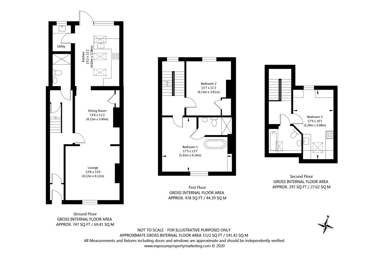 3 bed house for sale in Holgate Road - Property Floorplan