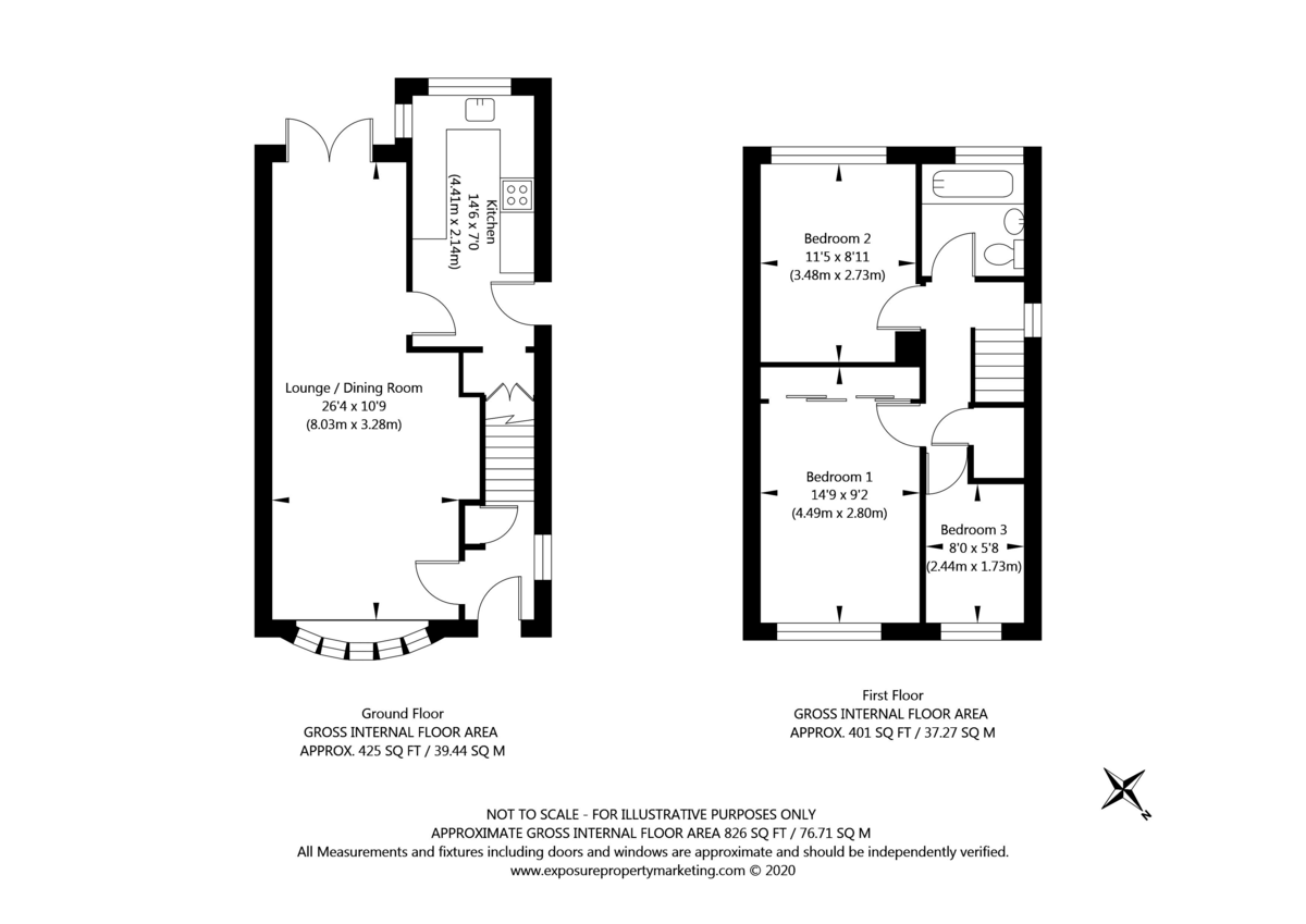 3 bed house for sale in Farmers Way, Copmanthorpe - Property Floorplan