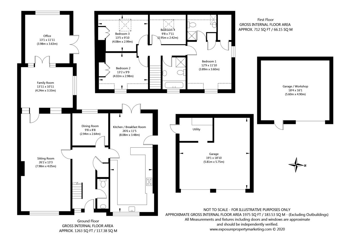 4 bed house for sale in Oakdene, Catterton - Property Floorplan