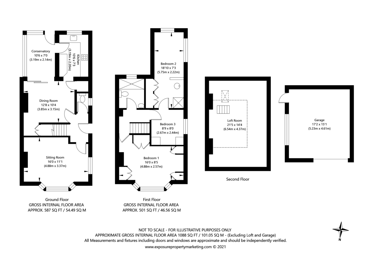3 bed house for sale in Tower Crescent, Tadcaster - Property Floorplan