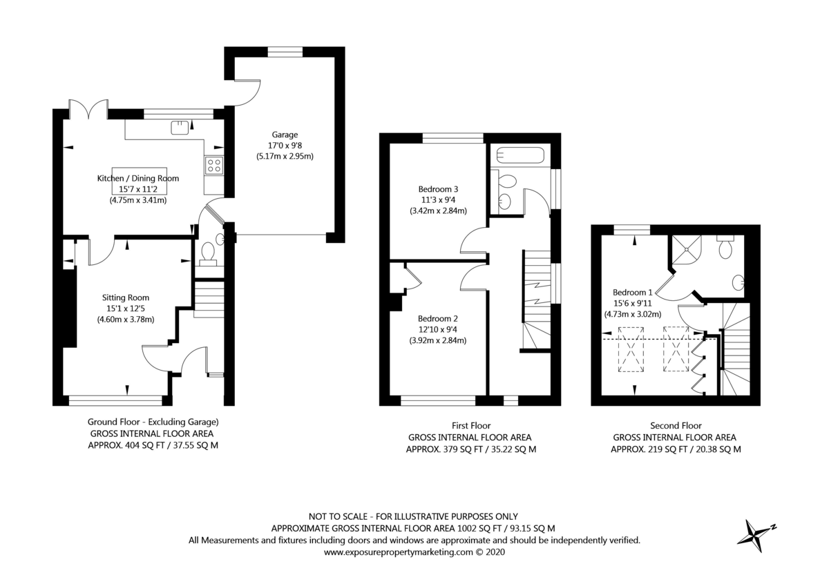 3 bed house for sale in Drome Road, Copmanthorpe - Property Floorplan