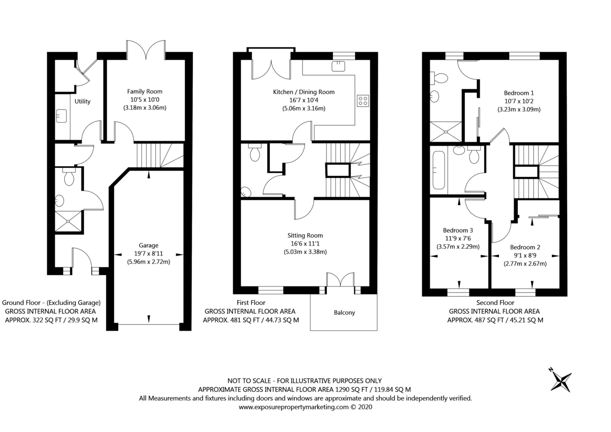 3 bed house for sale in St. Andrews Walk, Newton Kyme, Tadcaster - Property Floorplan