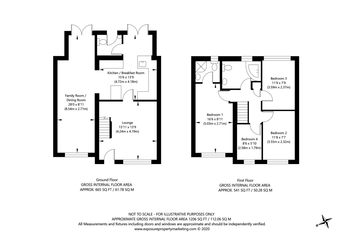 4 bed house for sale in Bellmans Croft, Copmanthorpe, York - Property Floorplan