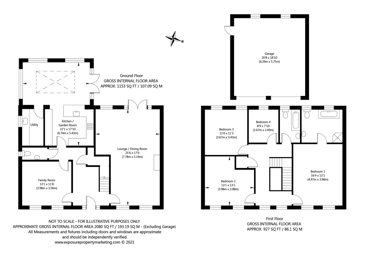 4 bed house for sale in Rectory Close, Bolton Percy, York - Property Floorplan