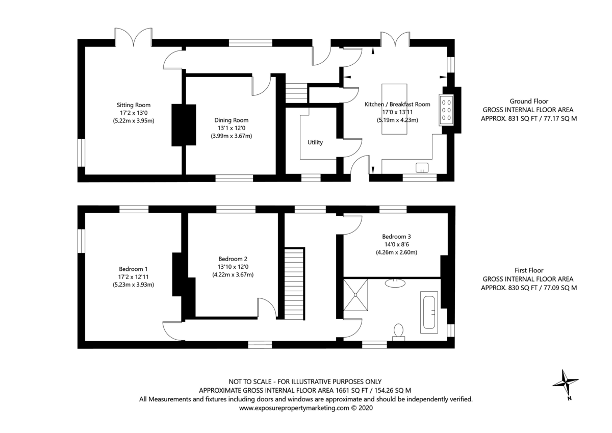 3 bed house for sale in Headwell Lane, Saxton, Tadcaster - Property Floorplan