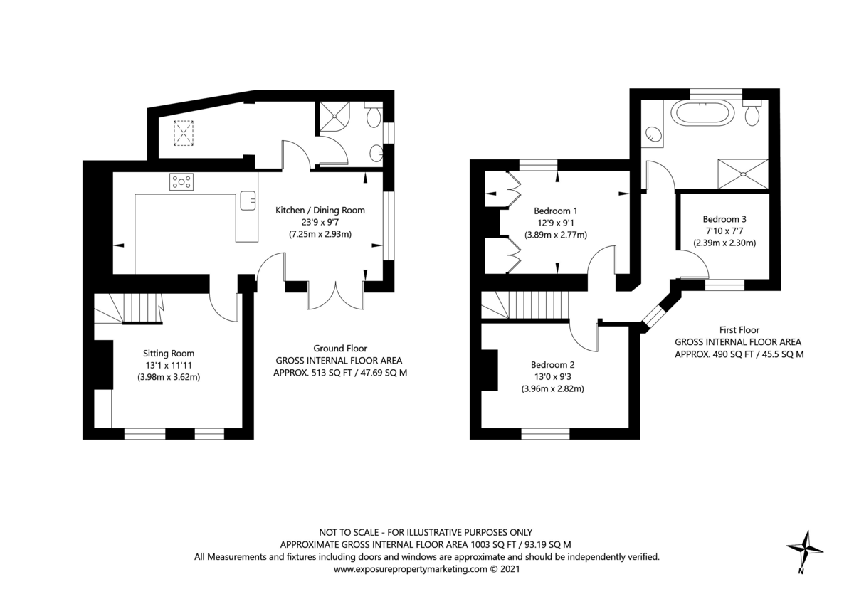 3 bed house for sale in York Road, Tadcaster - Property Floorplan
