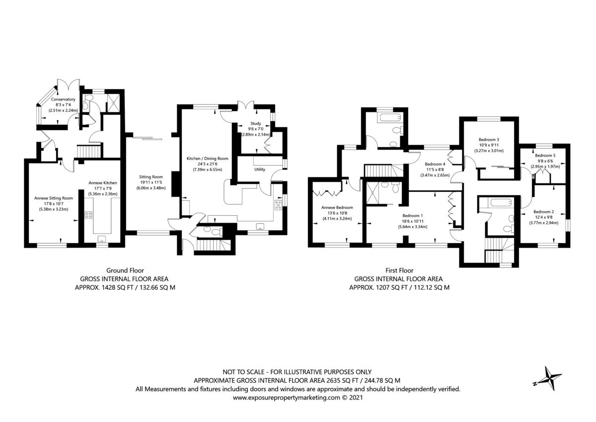 6 bed house for sale in Hallcroft Lane, Copmanthorpe, York - Property Floorplan