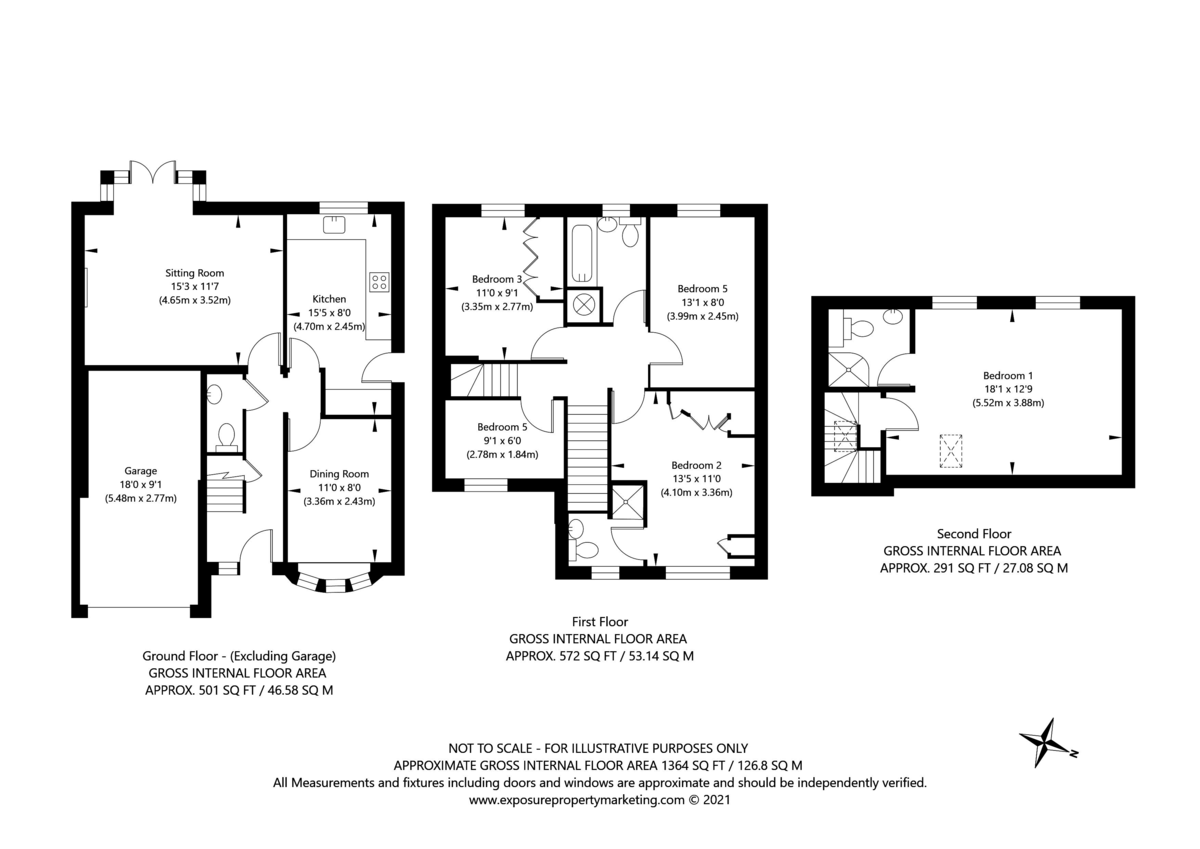 5 bed house for sale in Whistler Close, Copmanthorpe, York - Property Floorplan