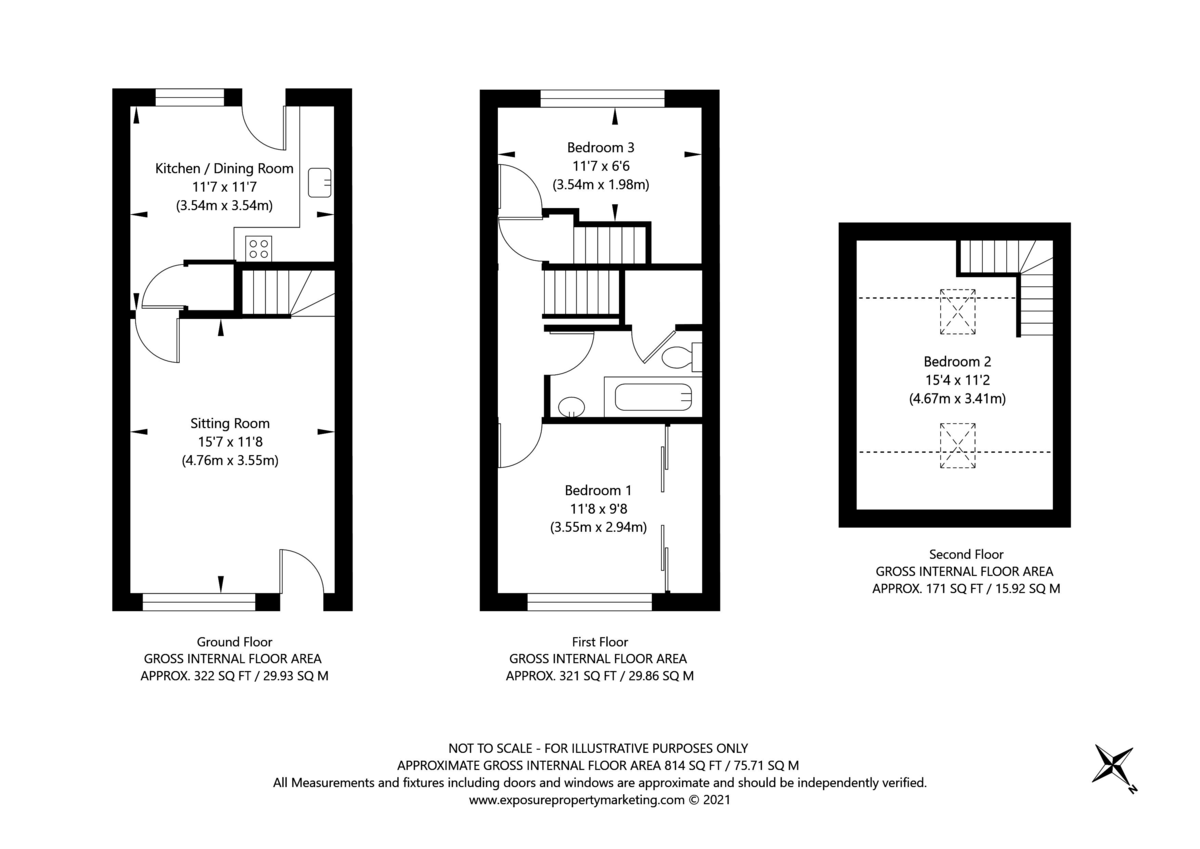 3 bed house for sale in Ostlers Close, Copmanthorpe, York - Property Floorplan