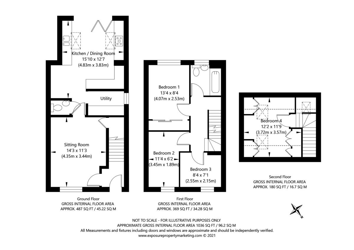 4 bed house for sale in Moorland Gardens, Copmanthorpe, York - Property Floorplan