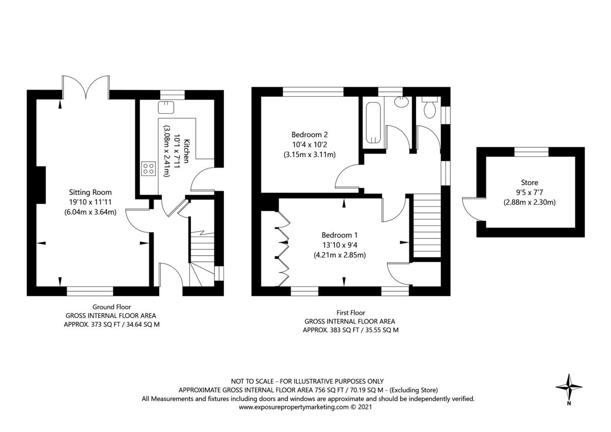 2 bed house for sale in Horseman Drive, Copmanthorpe, York - Property Floorplan