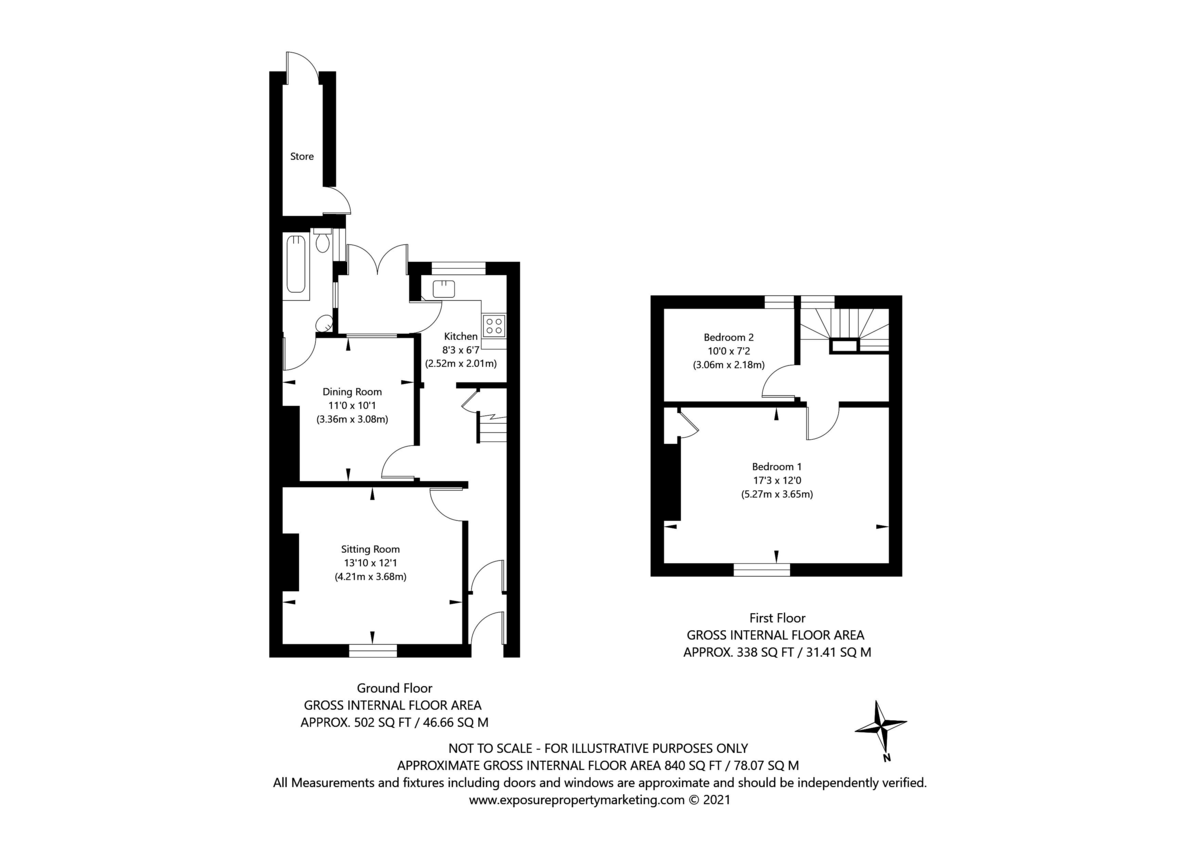 2 bed house for sale in Heworth Road, York - Property Floorplan