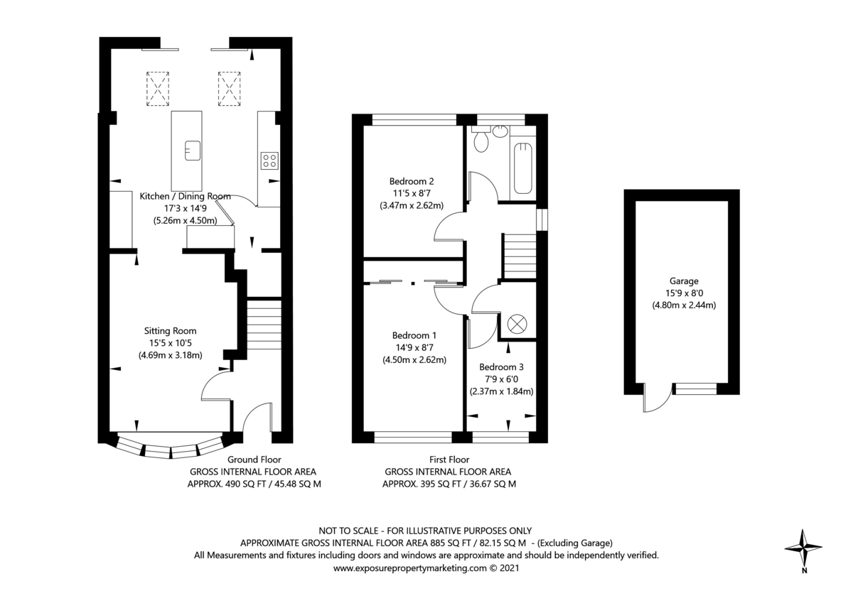 3 bed house for sale in The Gallops, York - Property Floorplan