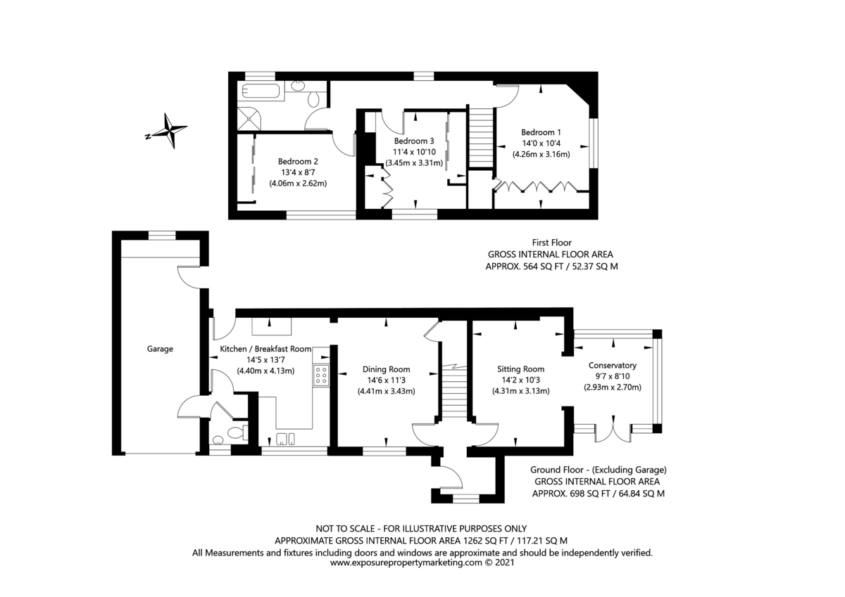 3 bed house for sale in Drome Road, Copmanthorpe, York - Property Floorplan