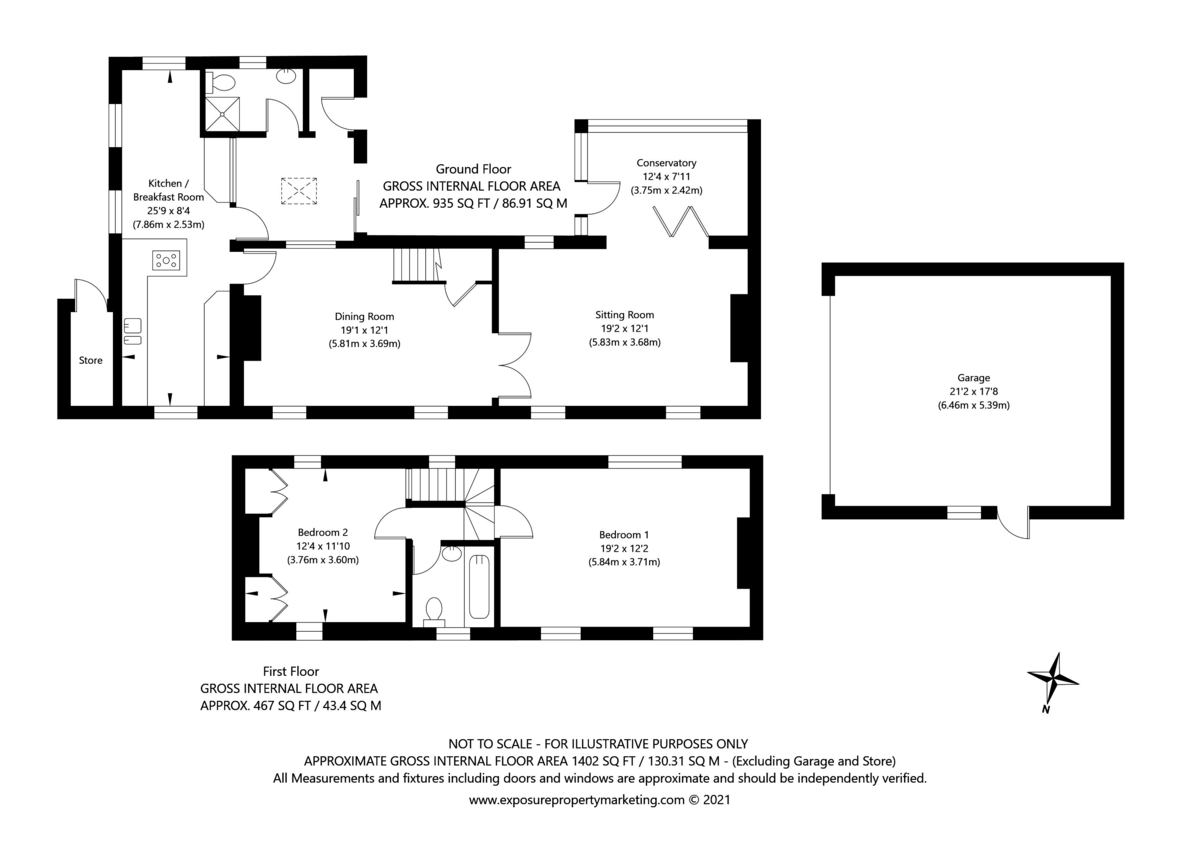 2 bed house for sale in Main Street, Colton - Property Floorplan