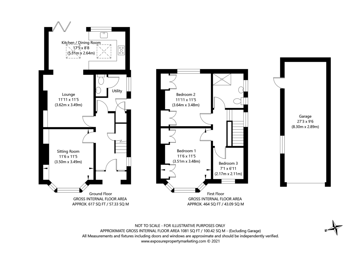 3 bed house for sale in Tranby Avenue, York - Property Floorplan