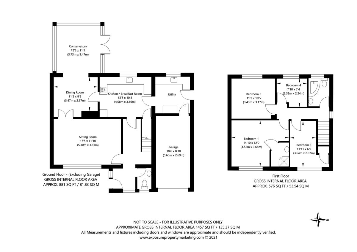 4 bed house for sale in Northfield Avenue, Appleton Roebuck, York - Property Floorplan
