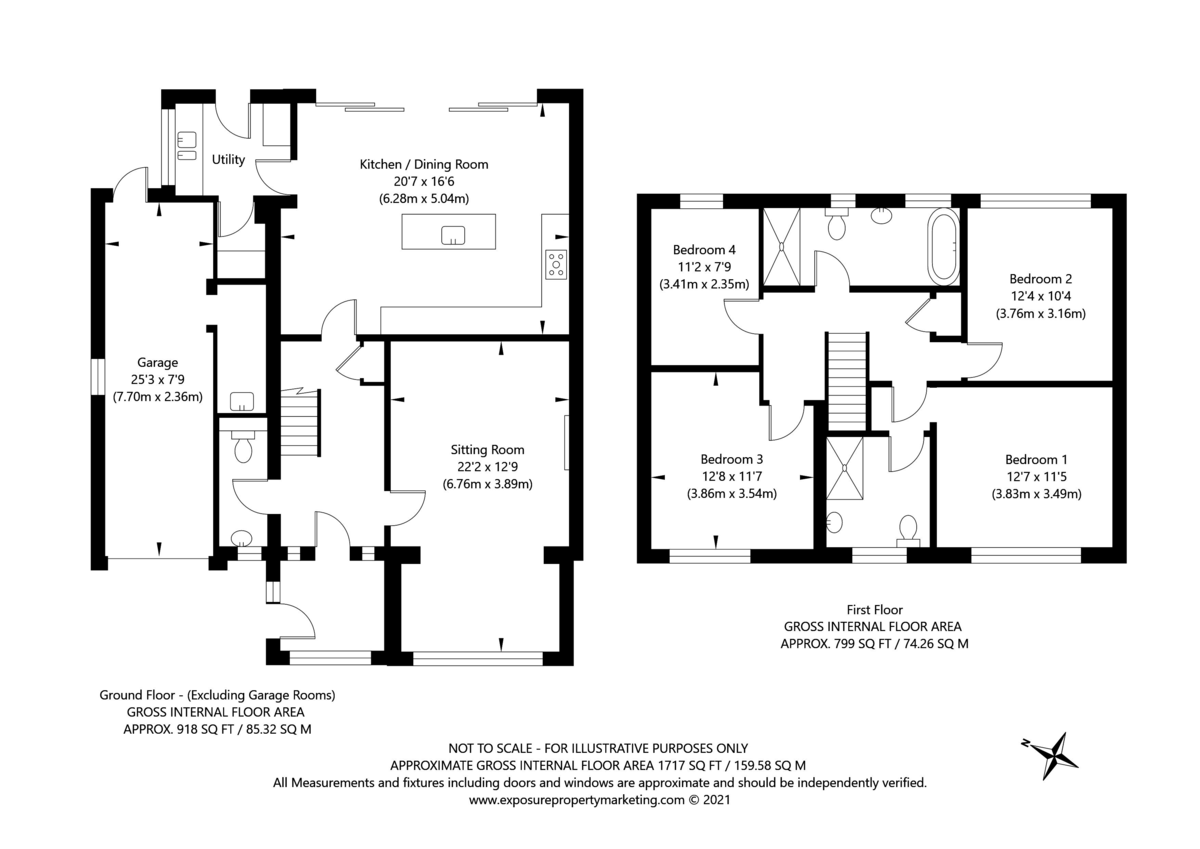 4 bed house for sale in Temple Lane, Copmanthorpe, York - Property Floorplan