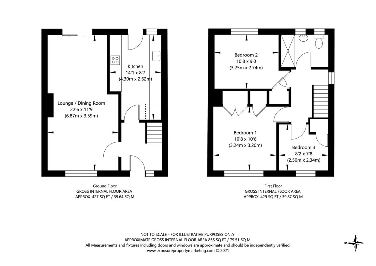 3 bed house for sale in Horseman Close, Copmanthorpe, York - Property Floorplan