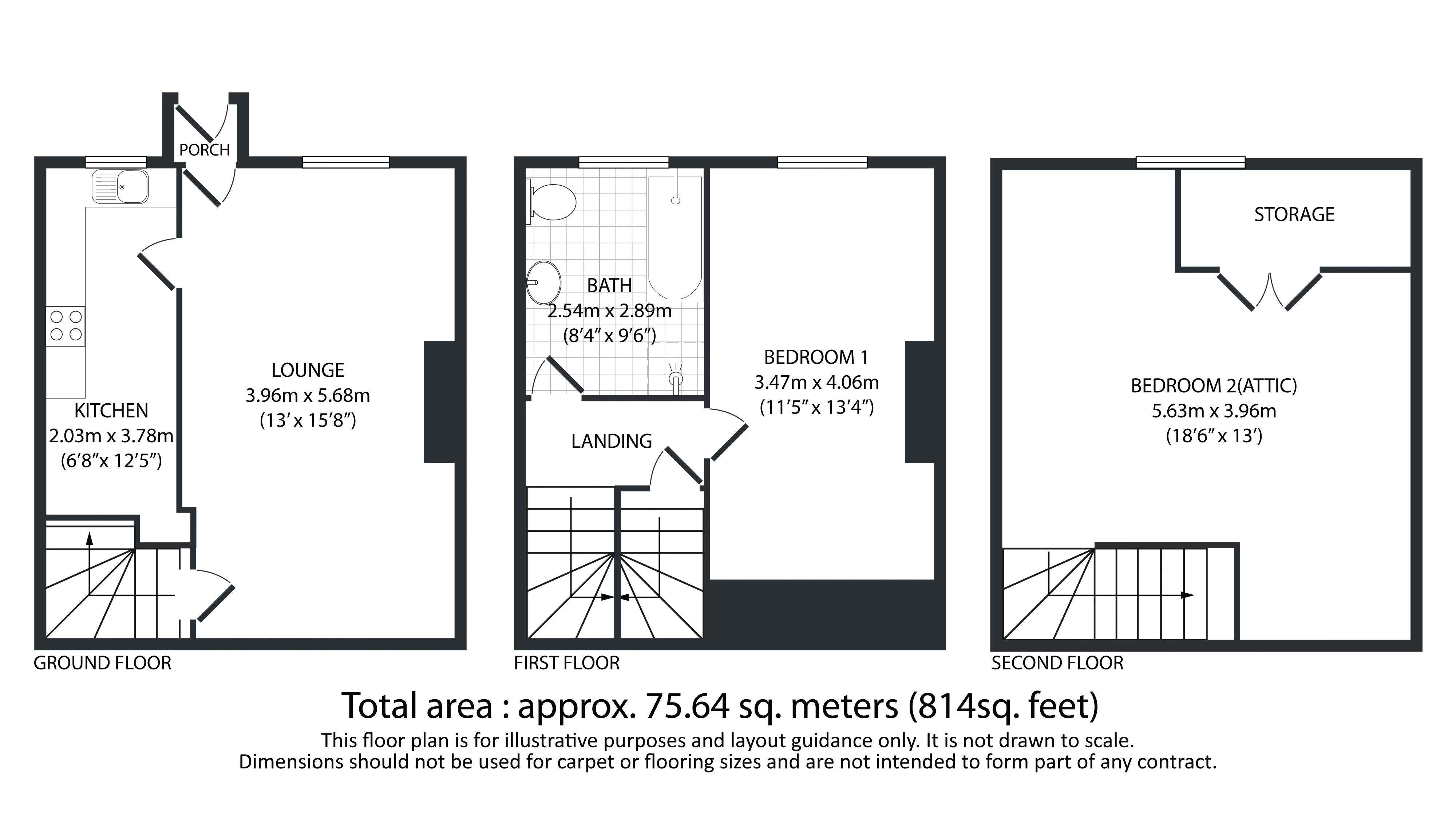 2 bed house for sale in Swires Terrace - Property Floorplan