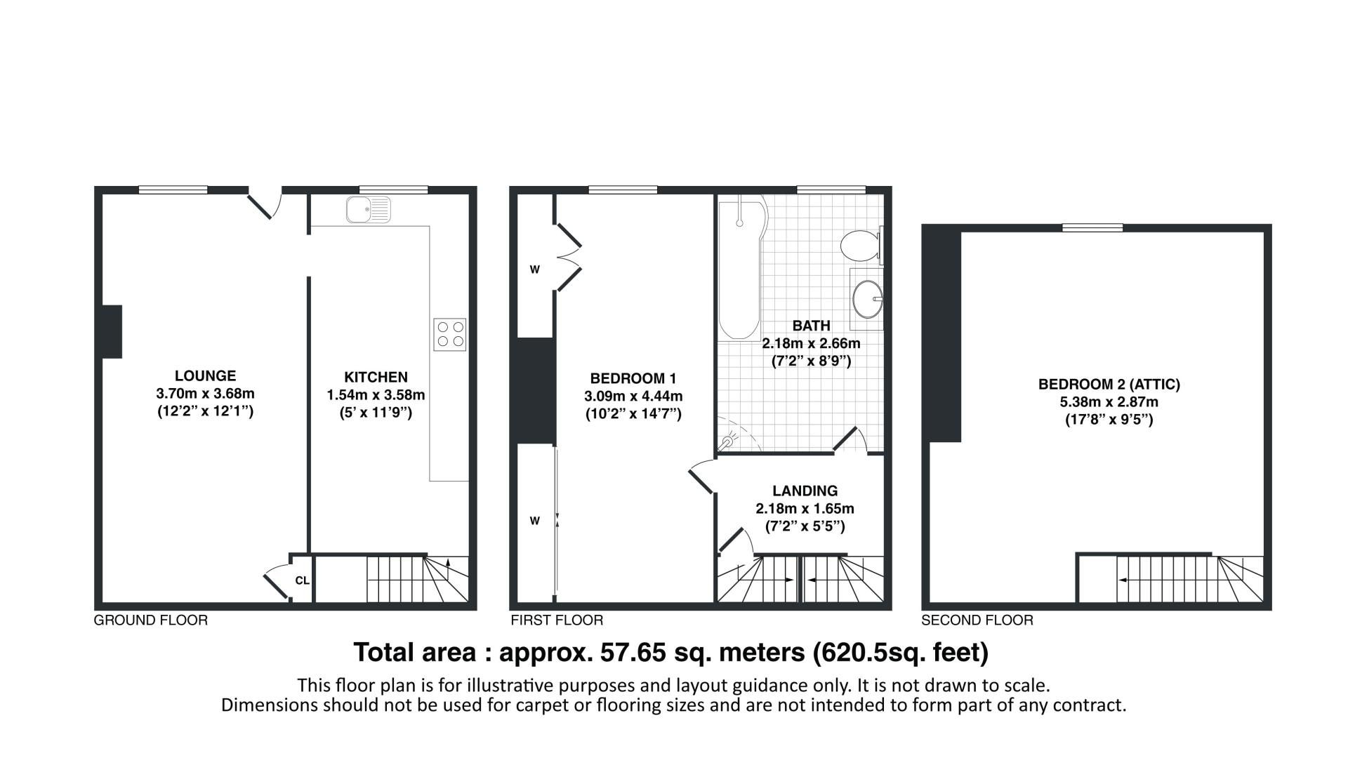2 bed house for sale in Buxton Street - Property Floorplan