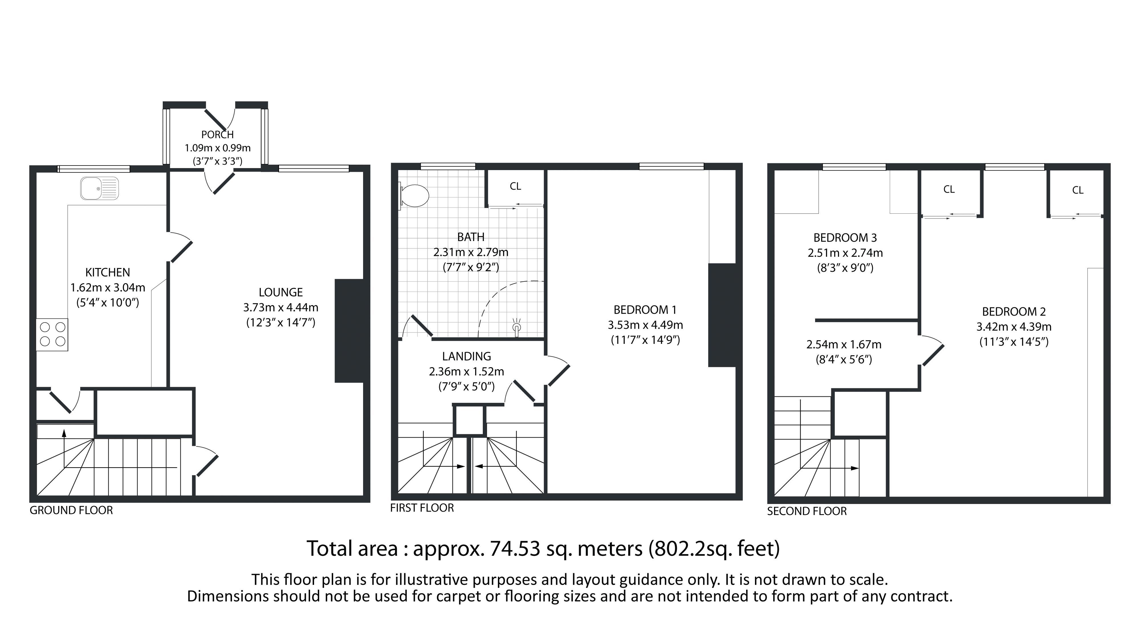 3 bed house for sale in Diamond Street - Property Floorplan
