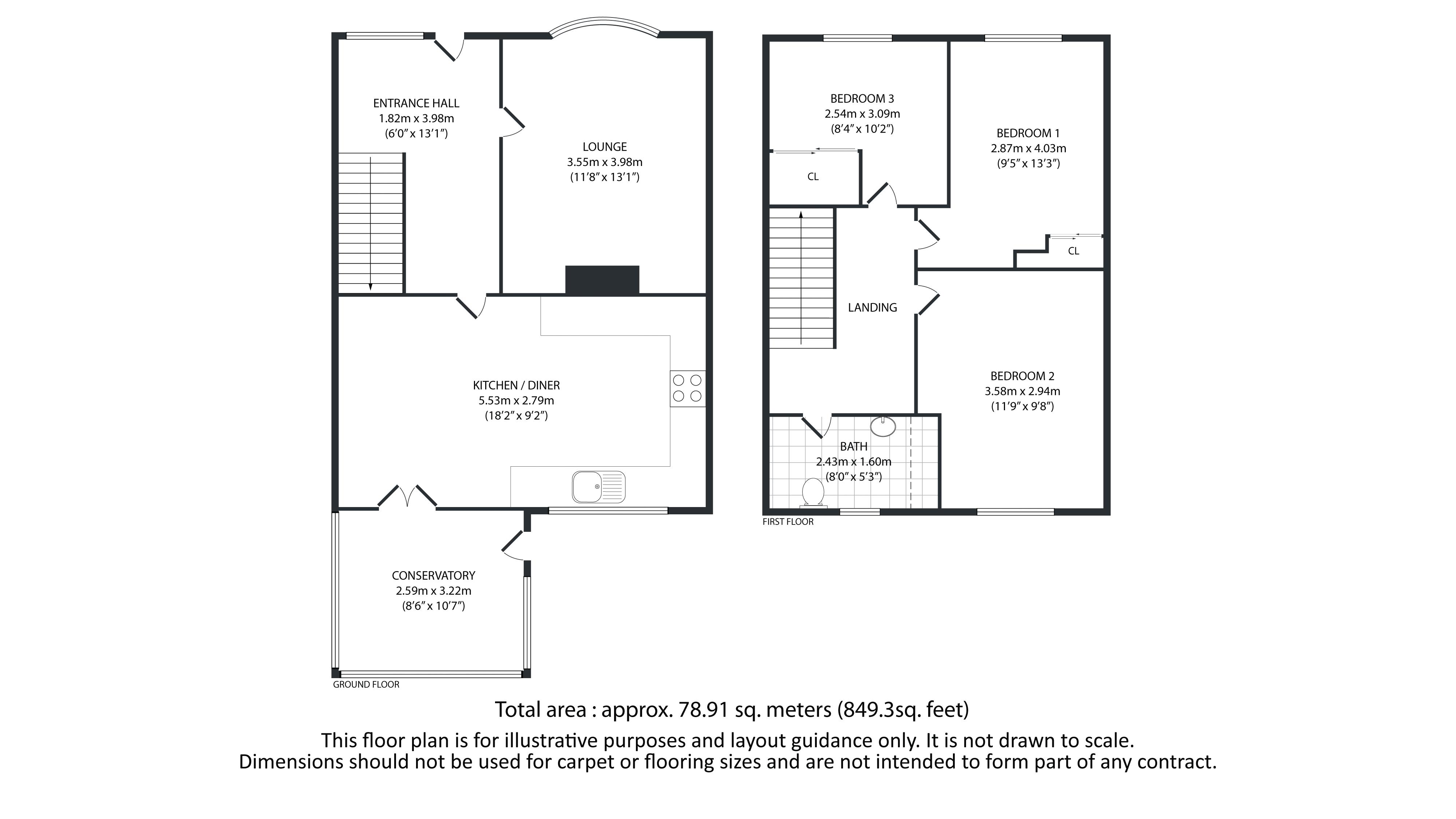 3 bed house for sale in Mixenden Road - Property Floorplan