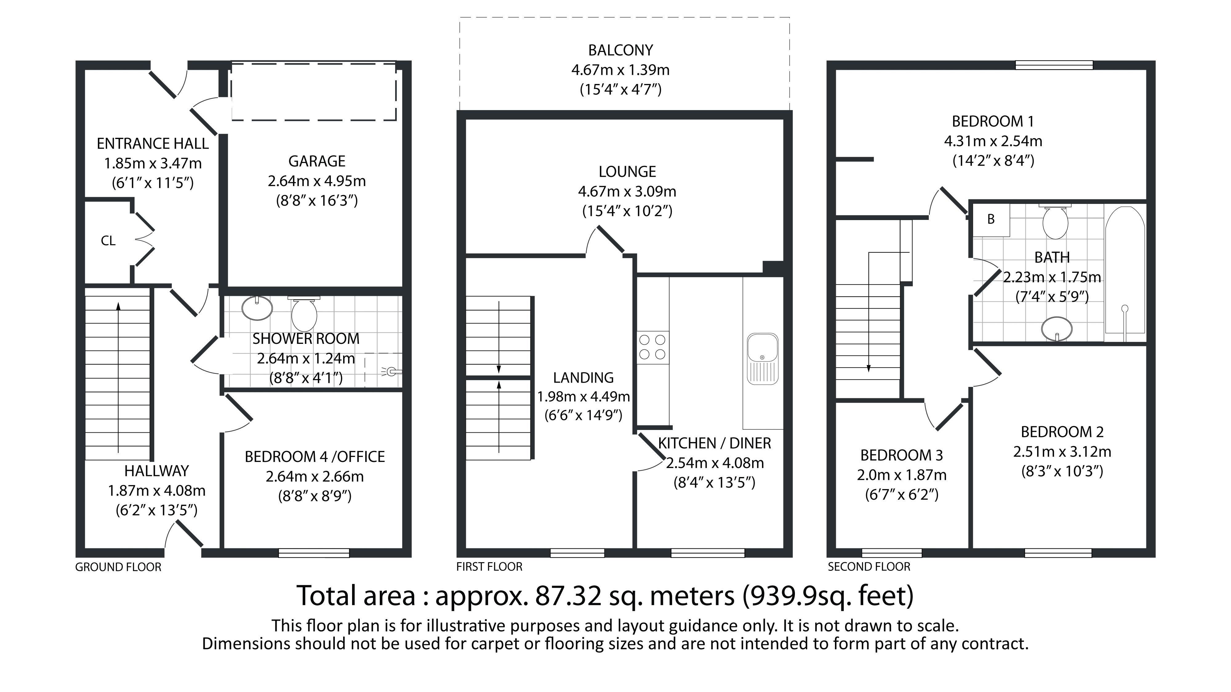 4 bed house for sale in Hebble View - Property Floorplan