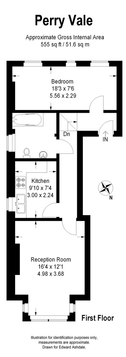 1 bed flat to rent in Perry Vale, Forest Hill - Property Floorplan