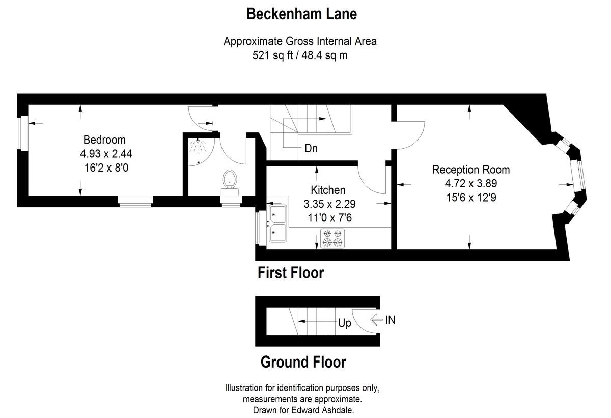 1 bed flat to rent in Beckenham Lane, Bromley - Property Floorplan