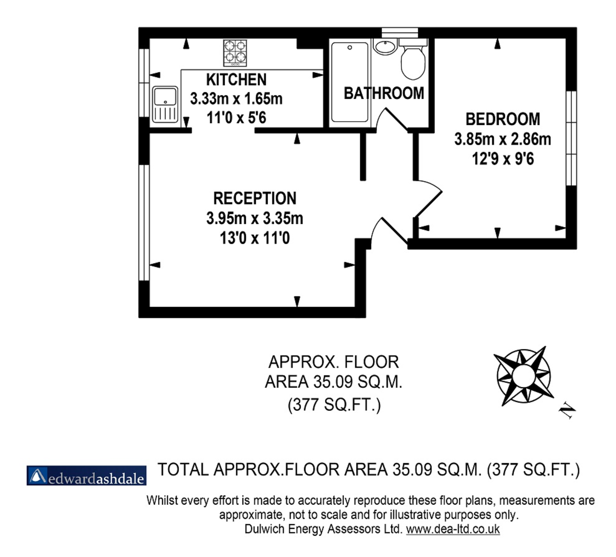 1 bed flat to rent in Crowther Road, South Norwood - Property Floorplan