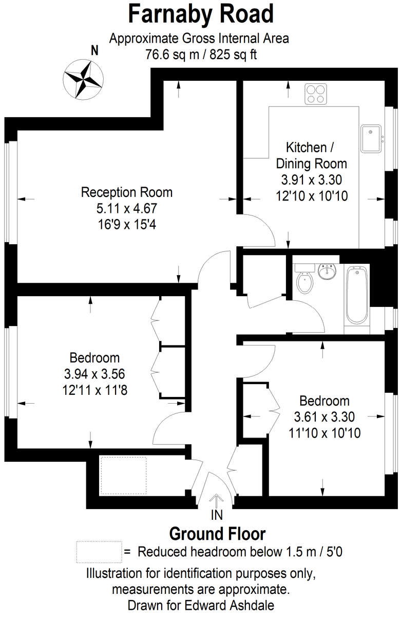 2 bed flat to rent in Shelbey Court, 1 Farnaby Road - Property Floorplan