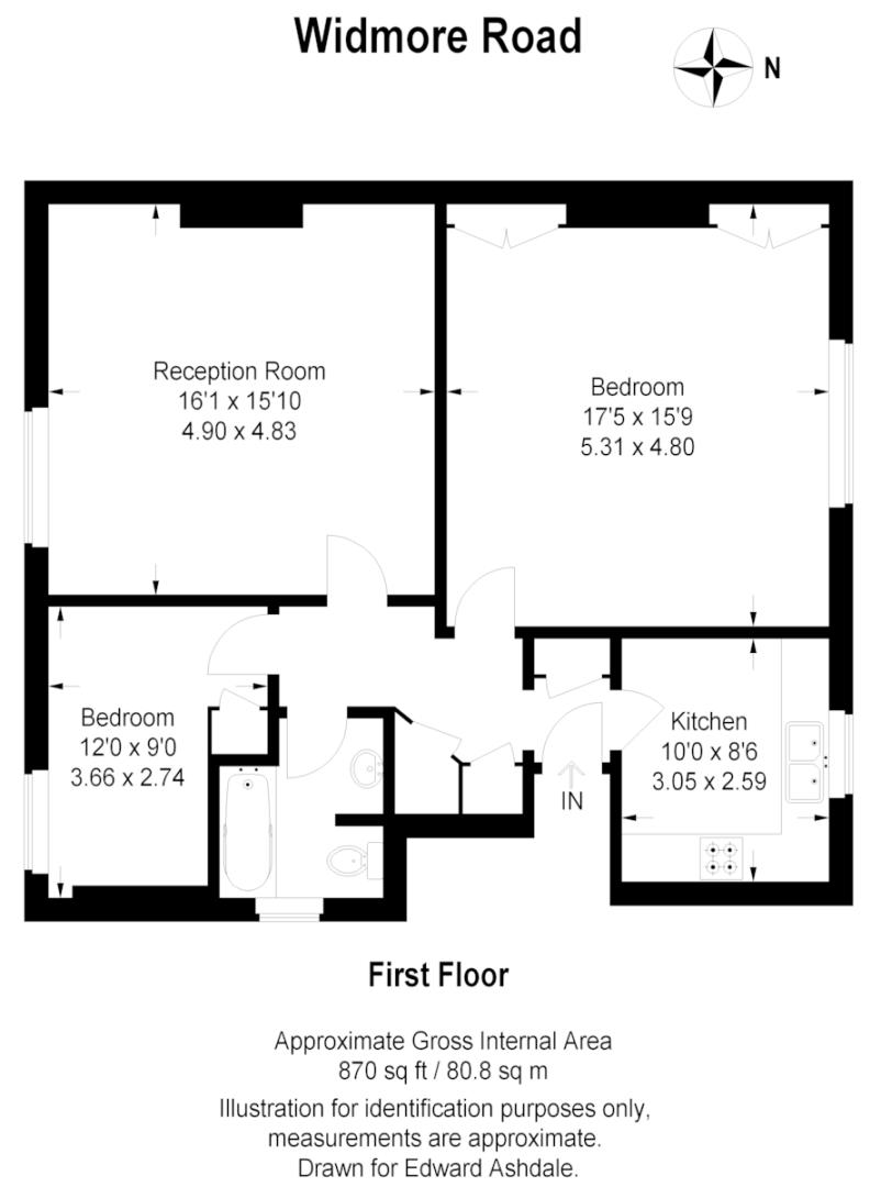 2 bed flat to rent in Widmore Road, Bromley - Property Floorplan