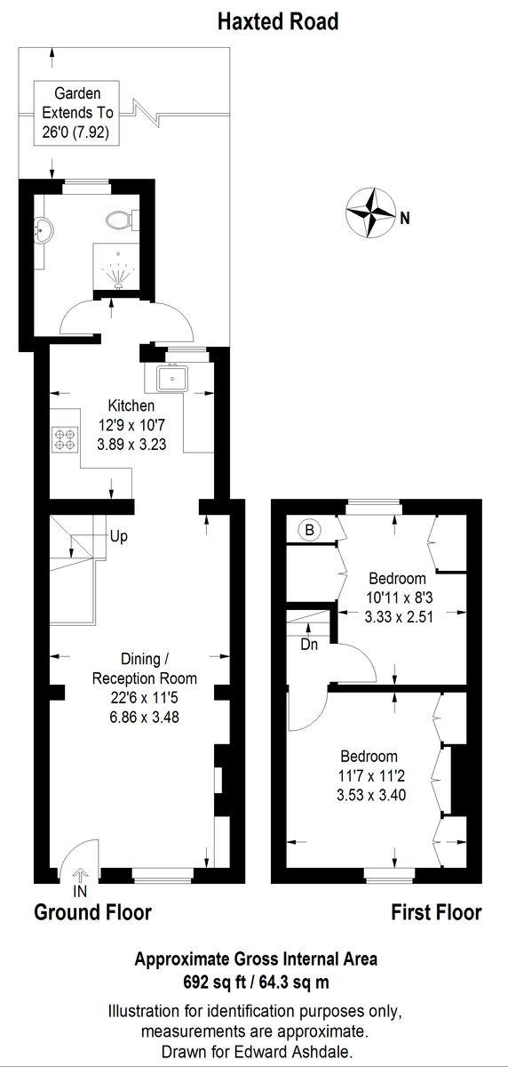 2 bed house for sale in Haxted Road, Bromley - Property Floorplan