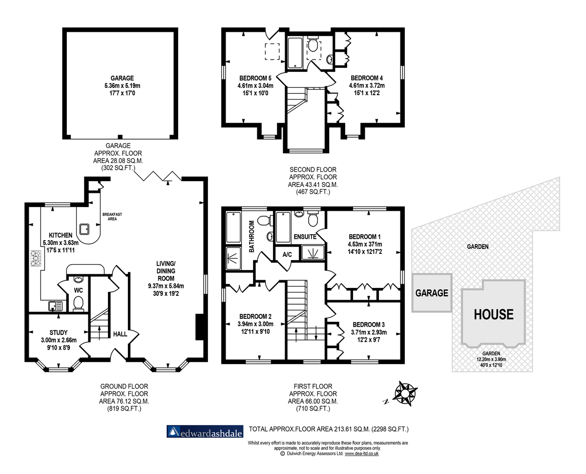 5 bed house for sale in Manor Gate Lane, Wilmington - Property Floorplan